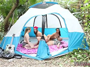 towheaded teenager bathing suit penetrate Theres nothing like an outing to the forest with your supersluts!