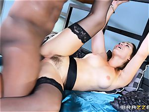 Dani Daniels takes this fat dark-hued wood with relief