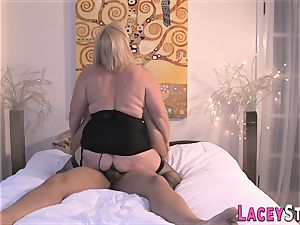 Lacey Starr Gets banged in handsome black stockings