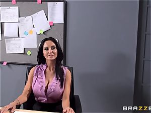 huge-titted lecturer Ava Addams is pulverized by her college girl