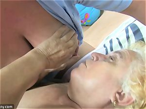 OldNanny granny and mature drained unshaved cunny