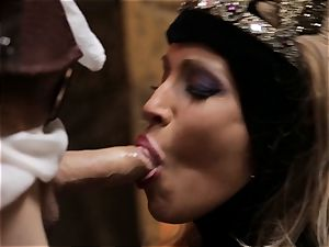 Mean queen Jessica Drake bans her submissive
