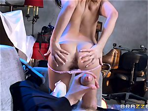 Ashley Adams pummels the enemys phat lengthy beef whistle