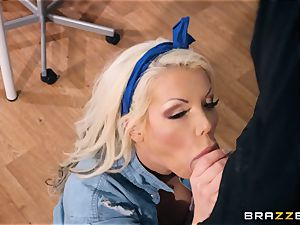 Danny plunges his monster schlong into the tight cooter of Barbie Sins