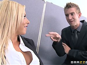 Britney Shannon ravages her eager manager in his office