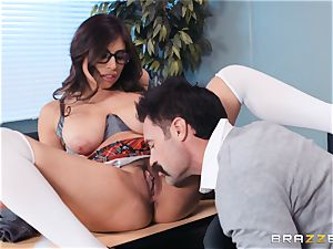 slamming that ample spear into Ella Knox in class